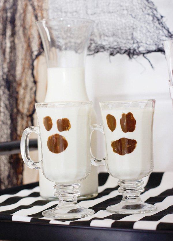 chocolate milk ghosts