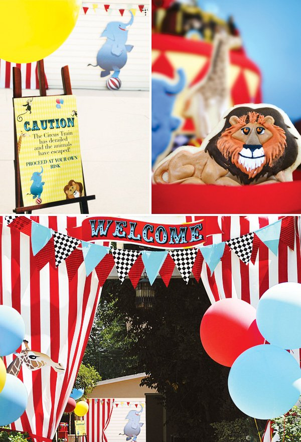 circus party welcome sign