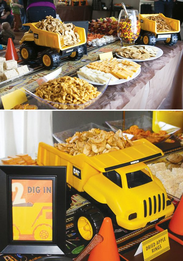 construction party dump truck