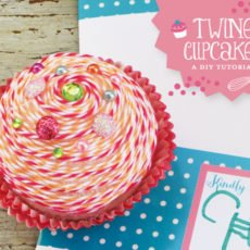 twine cupcake DIY tutorial