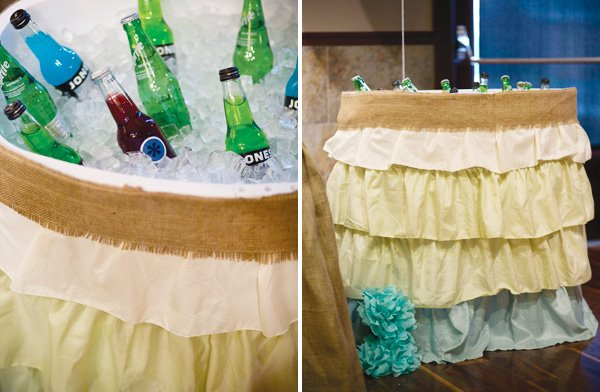 fabric ruffle drink cooler
