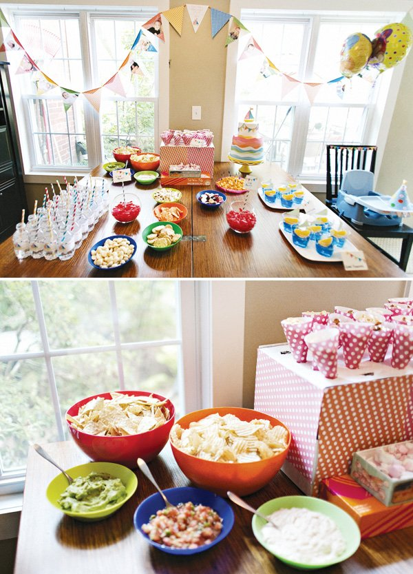 first birthday party snack table ideas