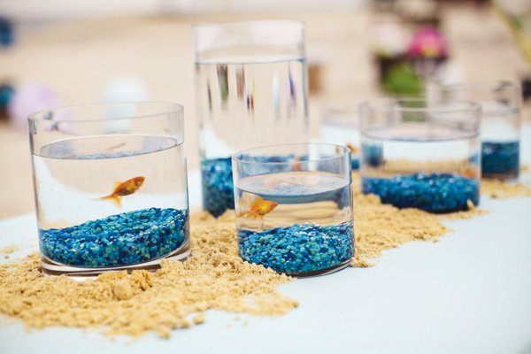 goldfish centerpieces