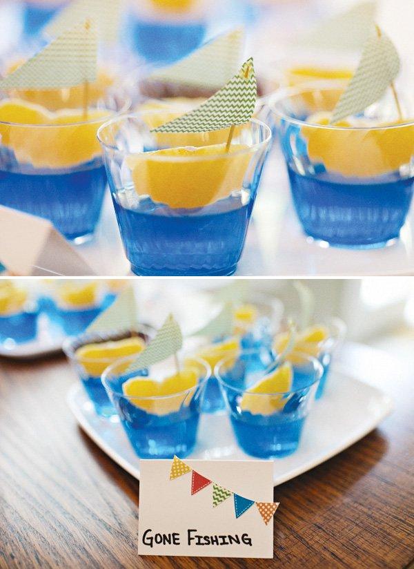 fishing fruit cups