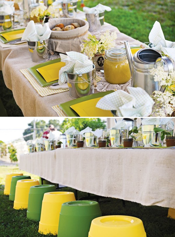 garden party kids table