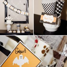 ghost crossing for a halloween party