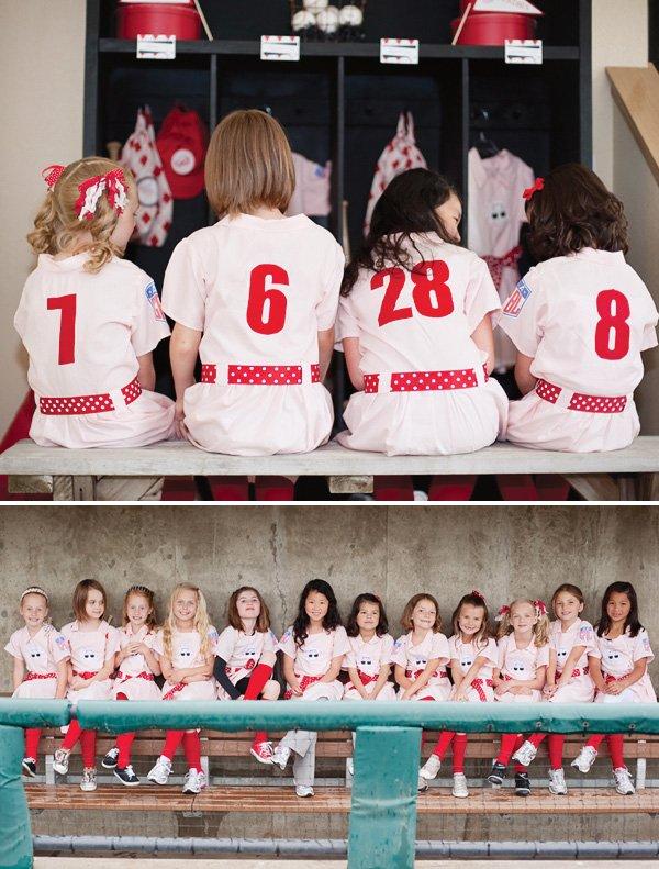 girls baseball team party
