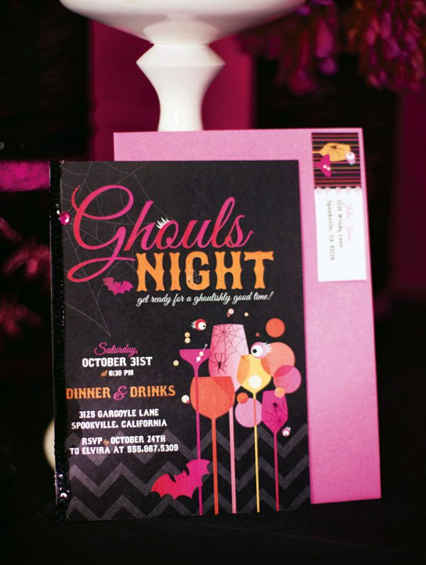 girlie Halloween Party Invitation