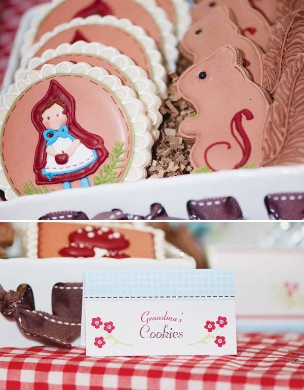 red riding hood themed cookies