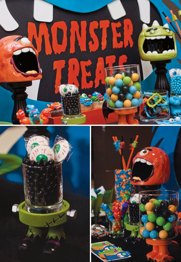 halloween monster party decorations