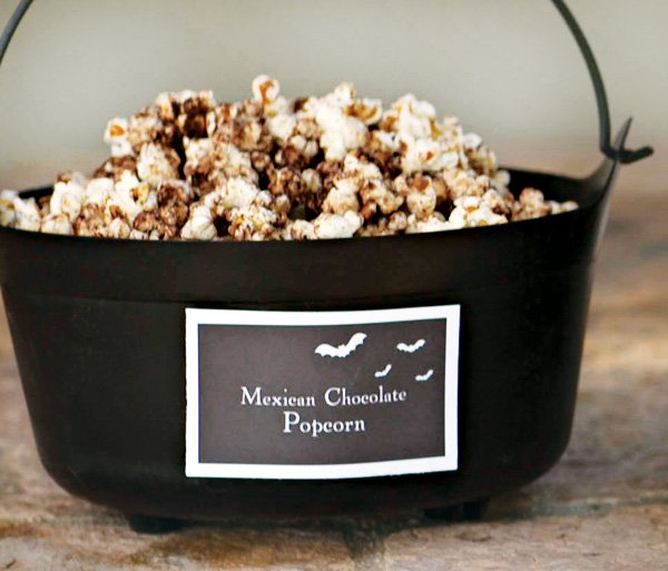 halloween chocolate popcorn