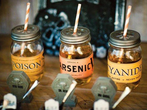 halloween drink labels