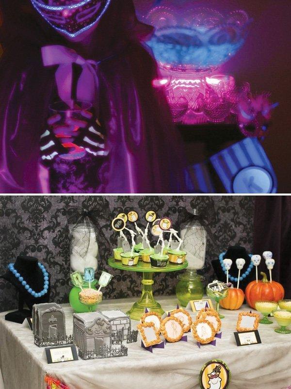 halloween glow in the dark party