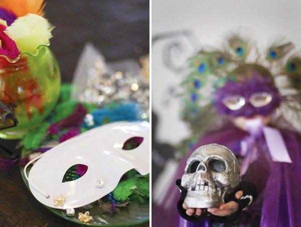 halloween mask decorating