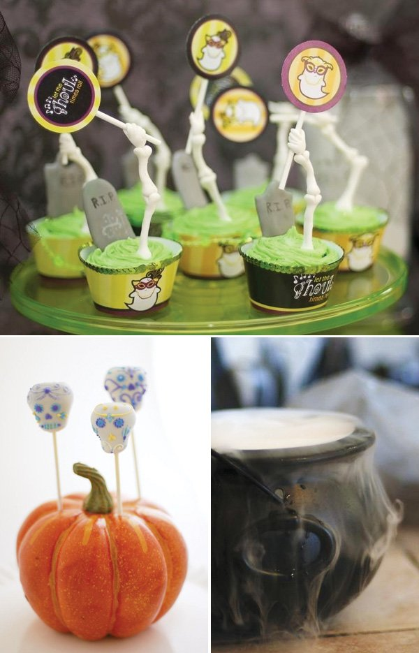 halloween party cauldron