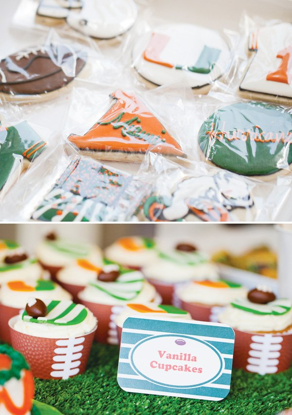 university of miami football themed birthday party