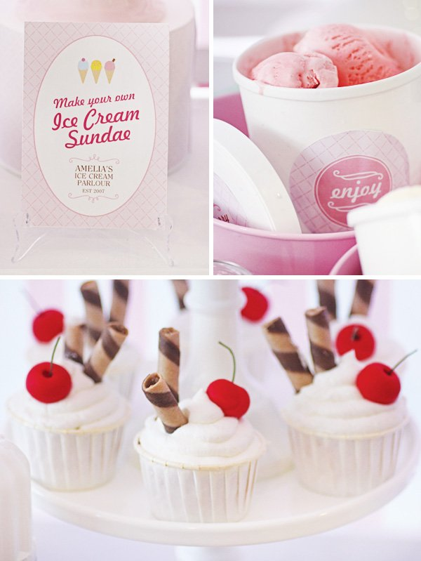 ice cream sundae station