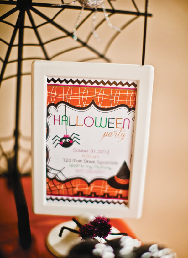 Kids Halloween Party Sign
