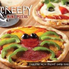 kids halloween recipe - homemade spider pizzas