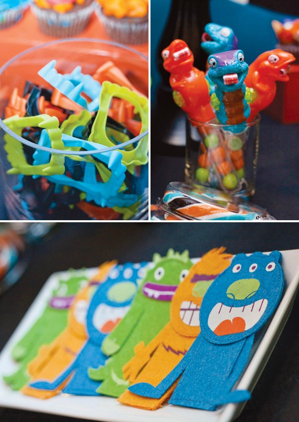 monster party favors and monster plushies
