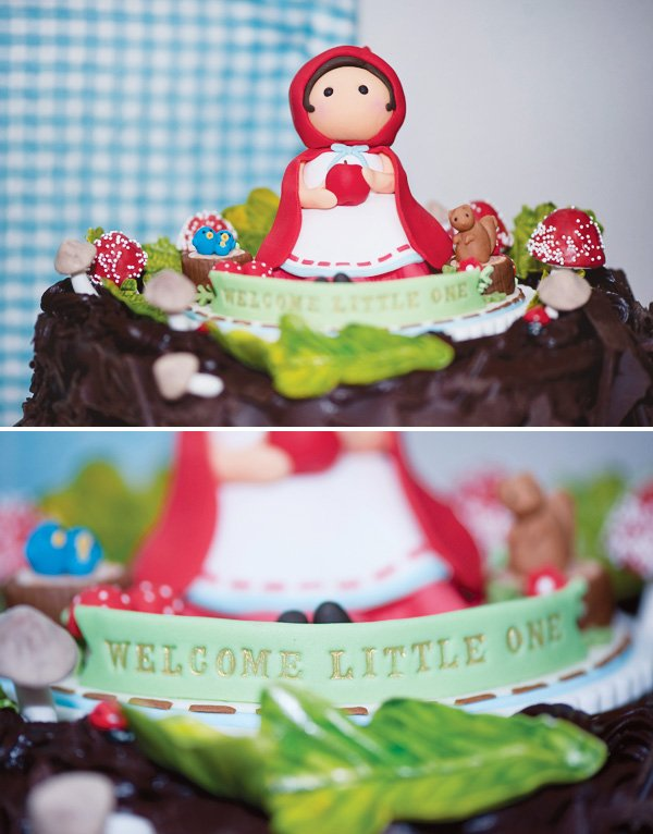 red riding hood fondant cake topper