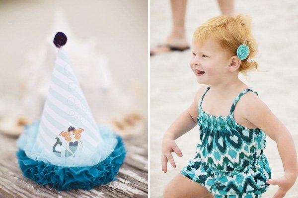 mermaid beach party hats