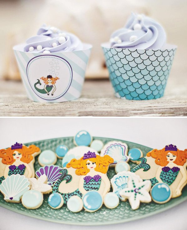 mermaid theme party printables