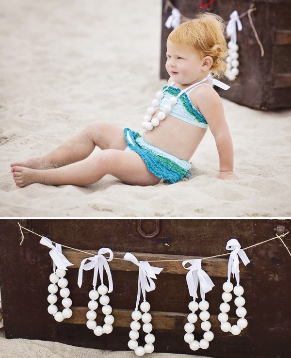 pearl necklace mermaid party favors