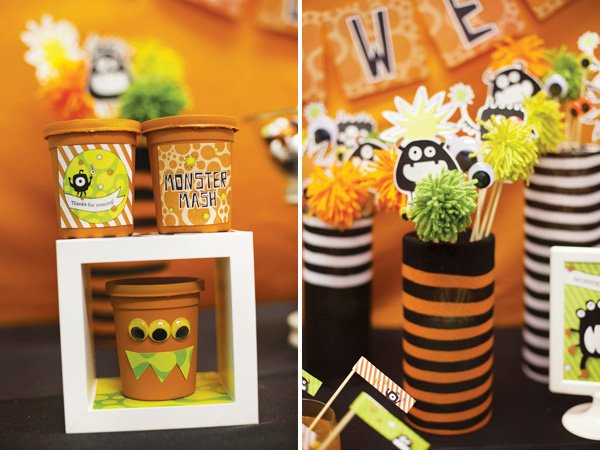 monster halloween favors and centerpieces