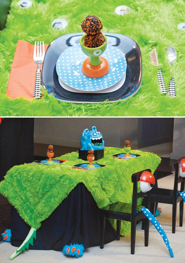 monster themed kids table