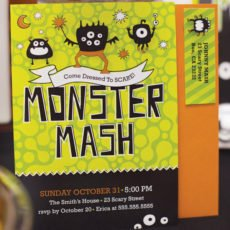 monster mash party invitation