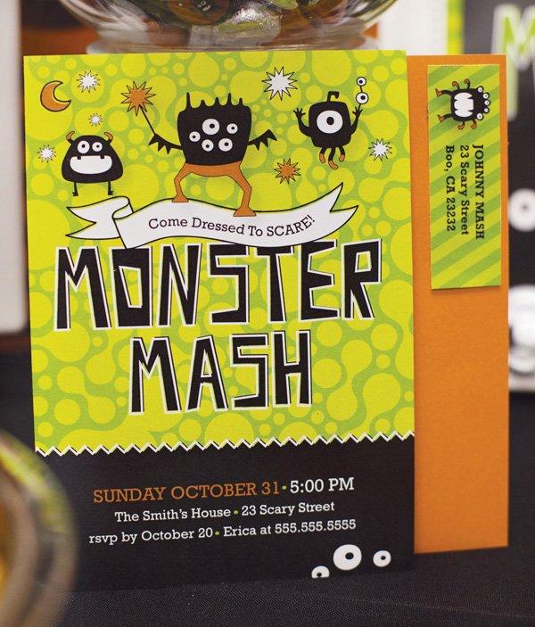 monster mash party invitation
