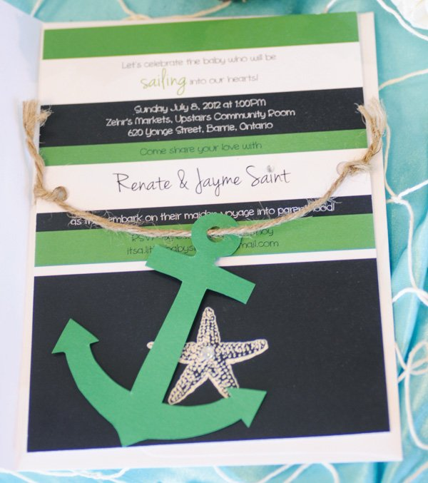 out to sea nautical themed baby shower