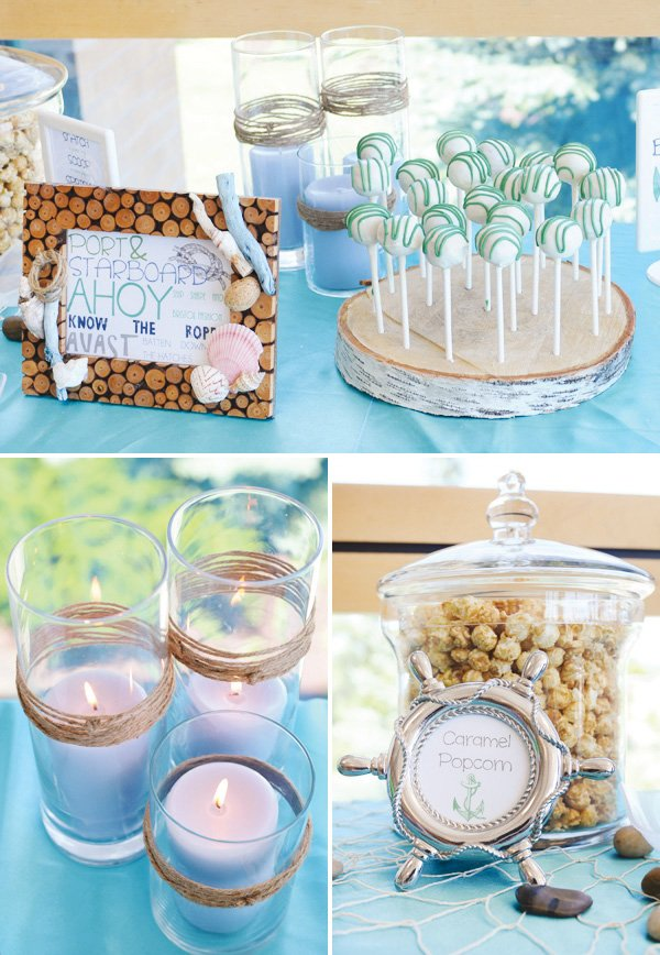 in a bottle wishes and a playful nautical themed photo booth
