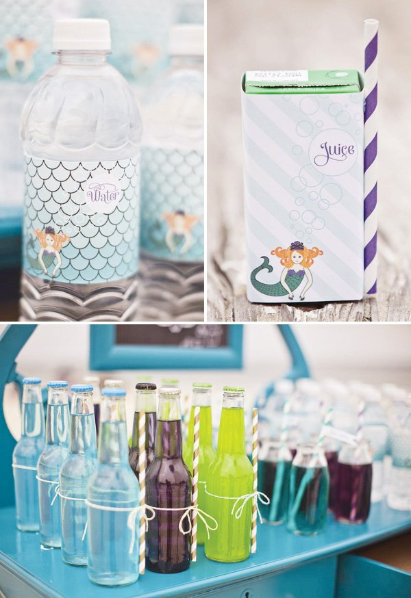 ombre mermaid party drinks