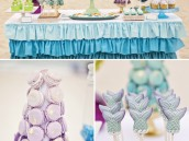 blue and purple ombre desserts