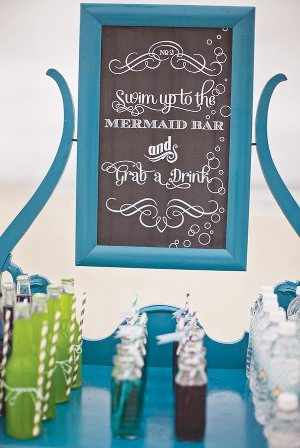 beach party mermaid drink station
