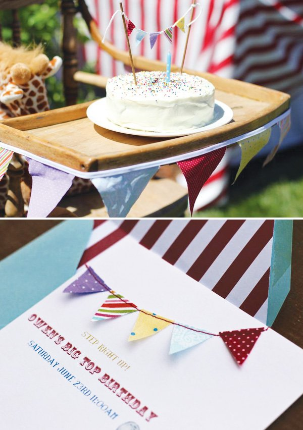 pendant bunting invitation