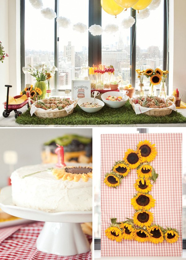 indoor picnic first birthday party