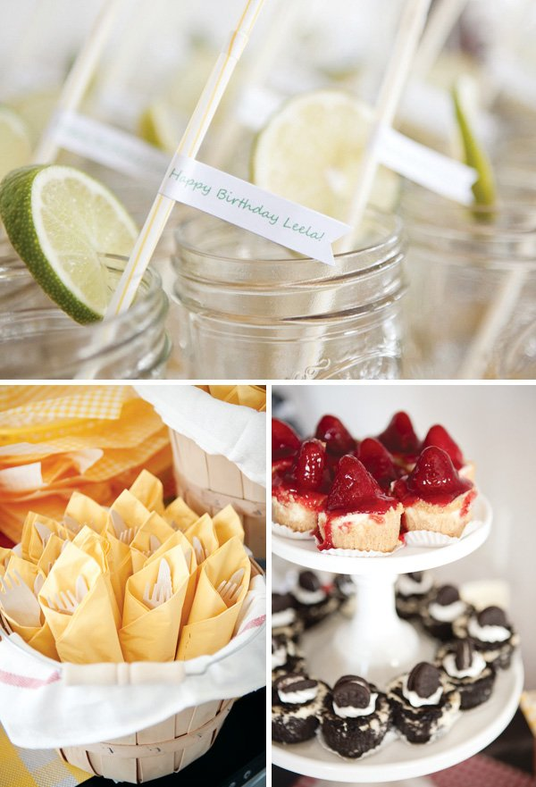 picnic desserts and table settings