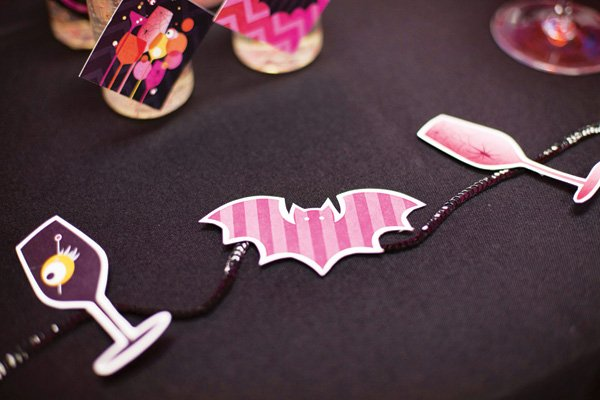 pink bat silhouettes
