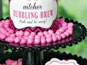pink halloween bubbling brew