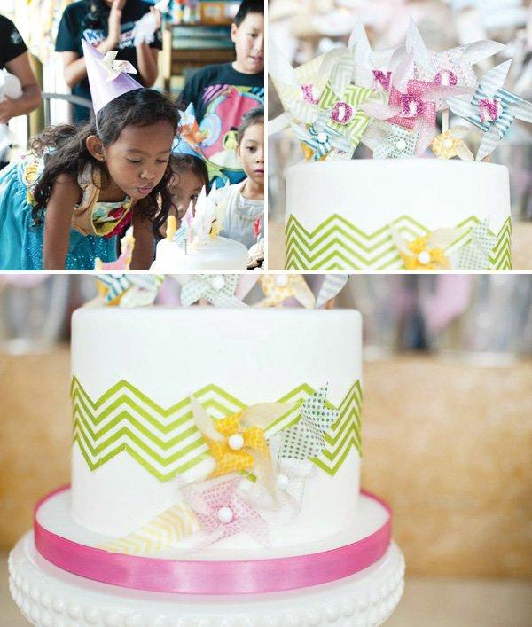 pinwheel birthday cake topper