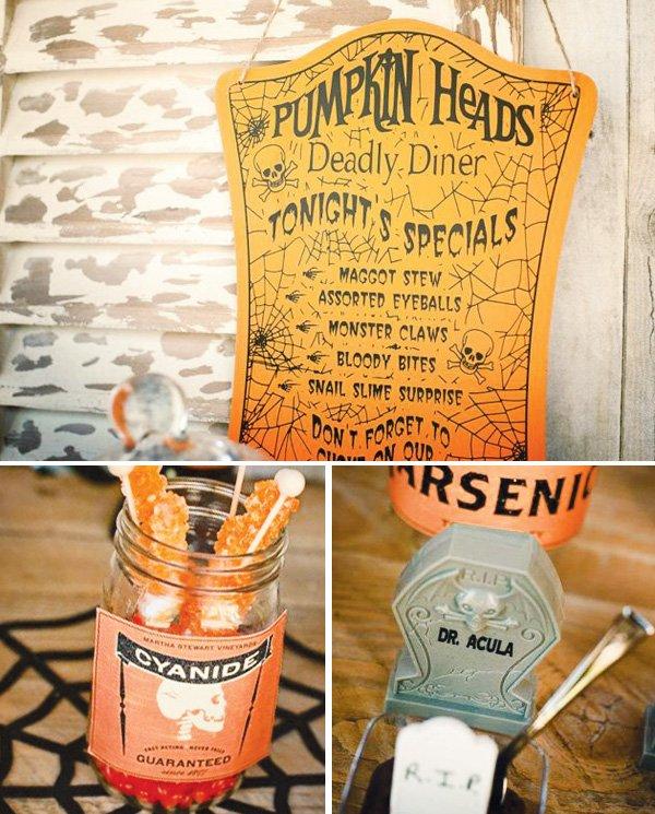 pumpkin halloween menu