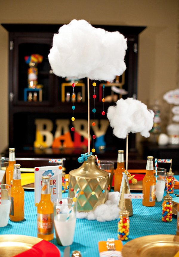 retro rainbow baby shower part 1 table decor