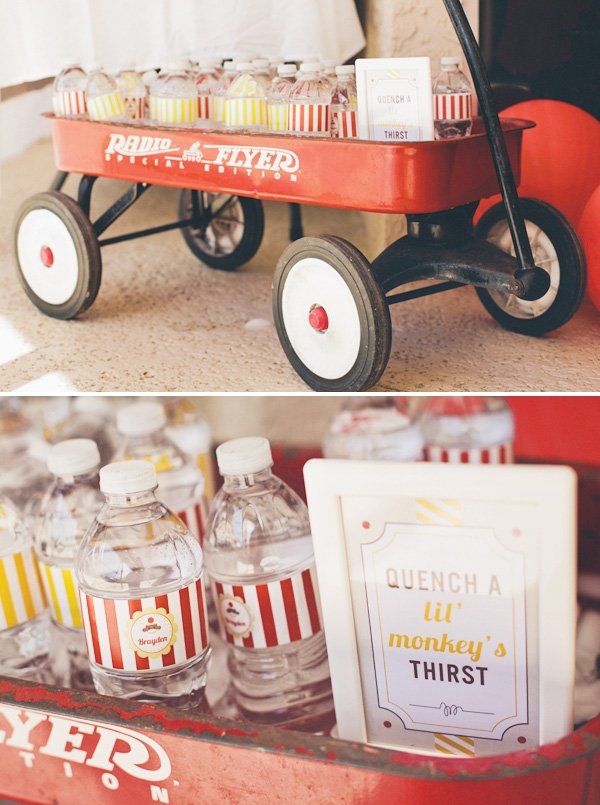 red wagon drink cooler