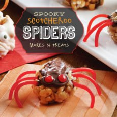 Halloween spider treats - rice krispy spiders