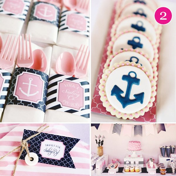 preppy pink nautical