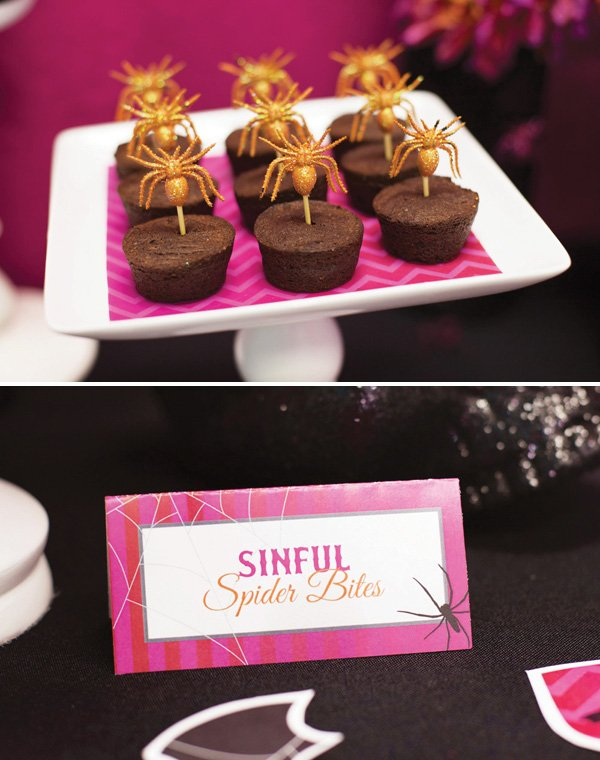 sinful spider bites for halloween party treats
