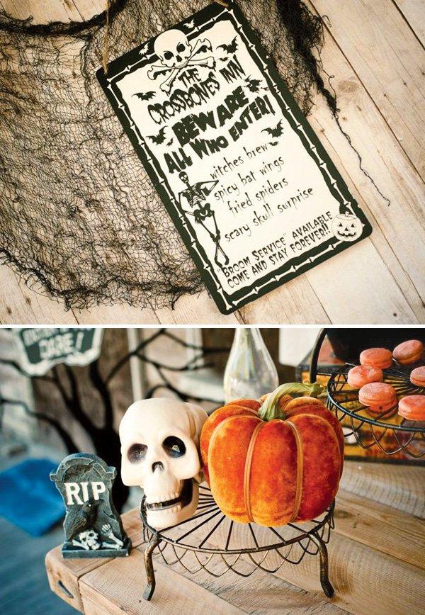 skeleton halloween menu